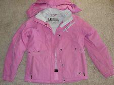 Girls Columbia Coat Jacket 14 / 16 Vertex Pink Ski Jacket Removable Hood