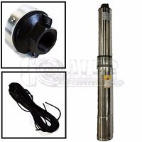 """Deep Well Submersible Pump, 4"""" 2 HP, 230V, 35 GPM, 400 ft Max, Long Life"""