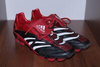 Vintage Adidas Predator Football black leather Boots Shoes UK 9 / US 9 1/2 2006