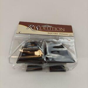 Restoration Hardware Black Square Finial Estate Rod Square 180039 096042030075
