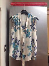 Ladies Cream Sheer Top Size 12 Dorothy Perkins Butterfly Pattern Bargain