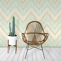 Colorful Zig Zags removable wallpaper Simple wall mural Scandinavian decor