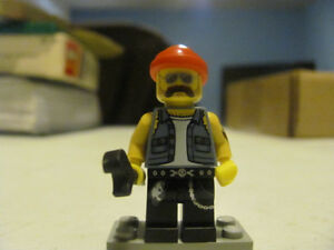 LEGO Minifigure Series 10 BIKER MECHANIC Minifigure Used