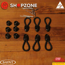"Saint Marine Bunji Bungee 80mm + Tonneau Buttons Nylon 4WD Ute+ POPS ""6 pack"""