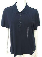 NWT Liz Golf Navy Blue Polo Shirt Women XL Short Sleeve $49 Dry Fit Top 16 18