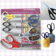 5 Pc Scissors Set Soft Grip Hand Stainless Tool Office Kitchen Craft Scissor NEW
