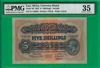 East Africa 5 shillings 1933,P20,Choice VF PMG *35*, highest grade offered@ebay!