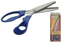 """FATIMA 9"""" PINKING SHEARS WITH BLUE HANDLE, RIGHT HANDED, REF:107714-BL"""