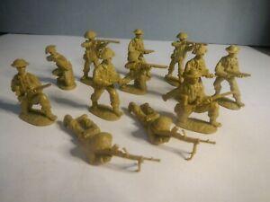 Weston Toy Co WW2 12x British Infantry -  Airfix, Britains Deetail compatible