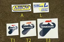 Termignoni LeoVince Leo Vince Arrow Auspuff hitzefest Aufkleber Stickers Decals