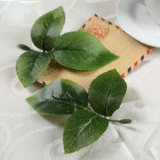 10X Silk Rose Leaf Leaves For Bouquet Garland Wedding Fake Living Modern Decor