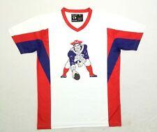 New England Patriots Retro Throwback Logo Baseball Jersey L sz 48 Large
