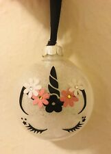 Unicorn Christmas Ornament Holiday Gift New Horses Flowers Be A Unicorn