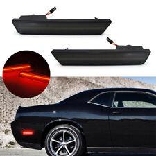 Pair Rear 2PCS Smoke LED Side Marker Lights 2008-2014 Dodge Challenger RT SRT8