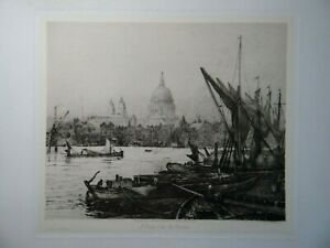 Charles Edward Holloway - St. Paul's from the Thames Etching, 1890