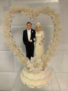 "Vintage Coast Novelty Wedding Topper. 6.5"" 1947."