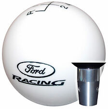 Ford Racing White 5 Speed Non Threaded Shift Knob Kit U.S. Made