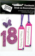 Pink 18th Birthday DIY Greeting Card Toppers Personalise Handmade Cards Yourself