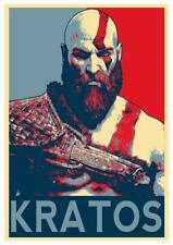 Poster Propaganda - God Of War - Kratos (B) - Formato A3 (42x30 cm)