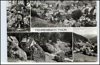 DDR Postkarte Thüringen FEHRENBACH Kr. Hildburghausen 4-fach s/w Mehrbildkarte