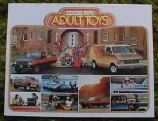 Original 1979 Dodge Truck Adult Toys Sales Brochure 79 4x4 Pickup