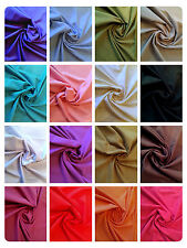 "100% Cotton Linen Look Fabric Dress Material - 20 Colours - 58"" (145cm) Wide"