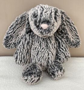 Jellycat Special Edition Georgia Bashful Bunny Rabbit Soft Toy Grey Black Plush
