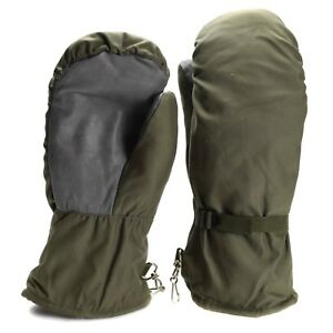 Original German army Olive grey camo mittens BW military issue combat gloves