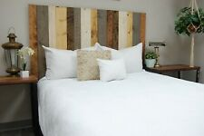 Rustic Mix Headboard, Hanger Style, Handcrafted. Mounts on Wall.