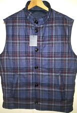 Peter Millar Reversible Wool Vest Jacket with Leather Trim Men 2XL NWT