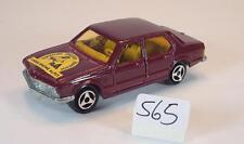 Majorette 1/60 no 256 BMW 733 Sedan rotmetallic Ligue Rhone Alpes No. 3 #565