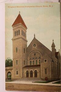 New Jersey NJ Dover Hoagland Memorial Presbyterian Church Postcard Old Vintage