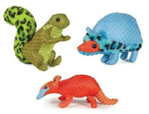 Freckle Friends Dog Toys Soft Plush Animal Choose Squirrel Hedgehog or Armadillo
