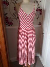 Cynthia Rowley Pêche et blanc rayé robe d'été Taille 10