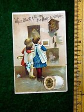 1887 Calendar Kids Looking At Cuckoo Clock J & P Coats Thread Trade Card F28