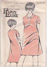 Patron Ancien Paris Luxe Femme n°5823 - Robe Future Maman manche courte T. 44