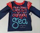 Cat & Jack Toddler Girls Patriotic 1 Piece Bathing Suit  Top Size 2T