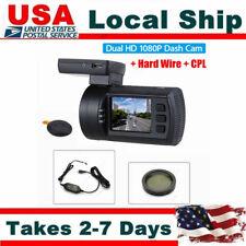Mini 0906 Car Dash Camera GPS Video DVR Recorder HD Dual Lens+Hard Wire+CPL WDR
