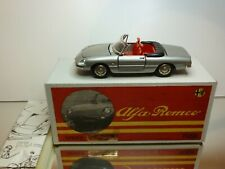 TOGI ALFA ROMEO  SPIDER 2000 - SILVER METALLIC 1:23 RARE - EXCELLENT IN BOX