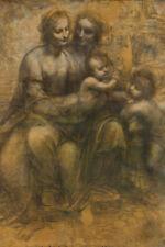 Leonardo da Vinci Virgin Child Saint Anne John Baptist Fine Art Poster 12x18