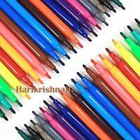 CHILDREN COLOURING PENS 24 LARGE PACK Washable Mixed Colour Felt Tip Art Set