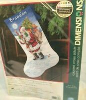 Dimensions Cross Stitch Stocking Kit Naughty or Nice 8806 Santa Open Complete