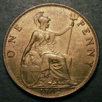 1902 Choice UNC Edward VII Low Tide Penny CGS 80 ~MS64    ☆☆☆ Price Reduced ☆☆☆