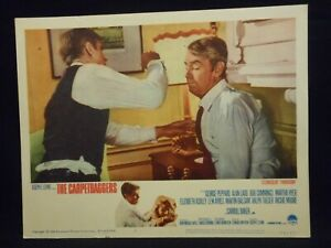 Alan Ladd The Carpetbaggers 1964 Lobby Card #1 fine Punch