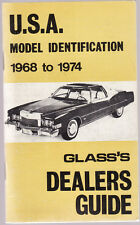 GLASS'S  DEALERS GUIDE : U.S.A.  MODEL IDENTIFICATION 1968-74 United States  fg