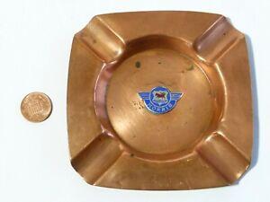 Vintage Copper Ashtray with Enamel Morris Car Badge