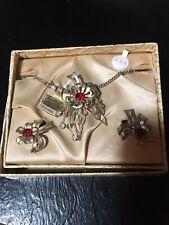 and Earring Set Nib Vintage Gold Art Original Necklace
