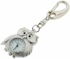 Gift Time Products Unisex Owl Clock Key Ring - Silver