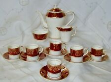 CROWNFORD CHINA:  SERVIZIO COMPLETO DA CAFFE' PORCELLANA INGLESE