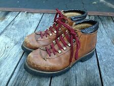 Vintage Womens Milo Mountaineering Hiking Climbing Boots  Size 7.5 Italy